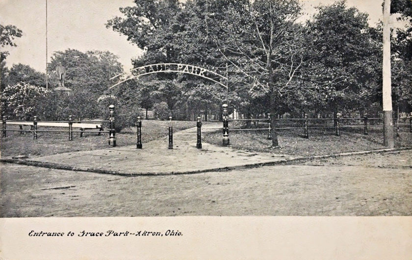 Entrance to Grace Park, Akron, Ohio