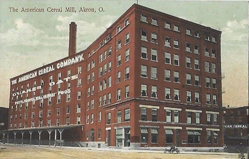 Quaker Oats American Cereal Mill Akron Postcards