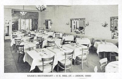 Kaase's Restaurant, Mill Street, Akron, Ohio