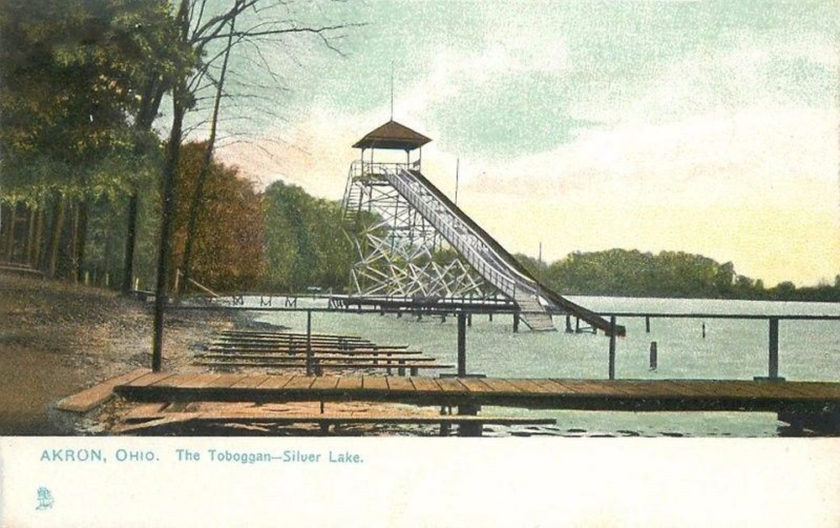 Silver Lake Toboggan ride, Near Akron, Ohio