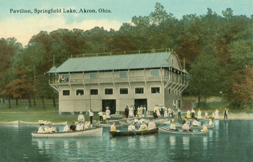 Pavilion at Springfield Lake, near Akron, Ohio