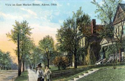 View on East Market Street, Akron, Ohio