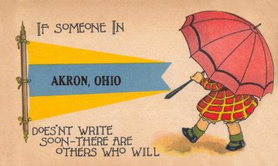 Akron Postcard, Akron, Ohio