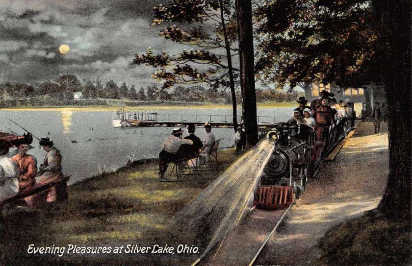 Silver Lake Railway at Night, Akron/Cuyahoga Falls, Ohio
