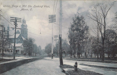 Union, Forge, and Mill Streets looking West, Akron, Ohio