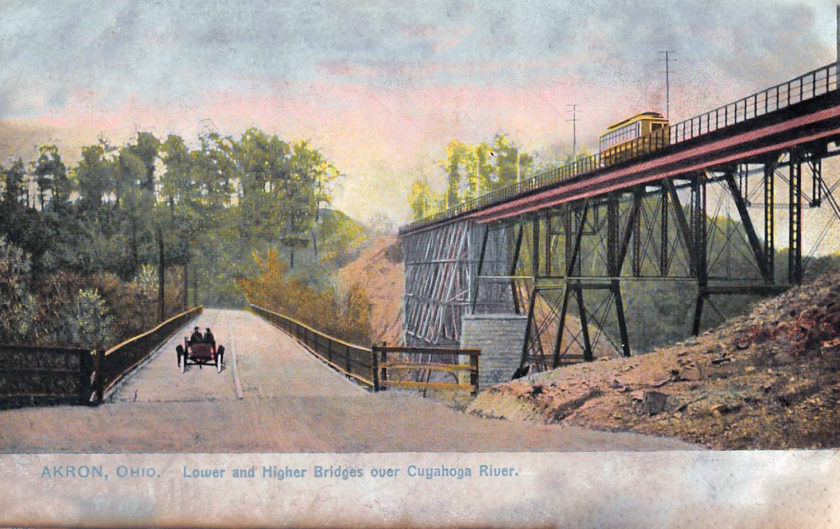Lower and Higher Bridges over the Cuyahoga River, Akron, Ohio