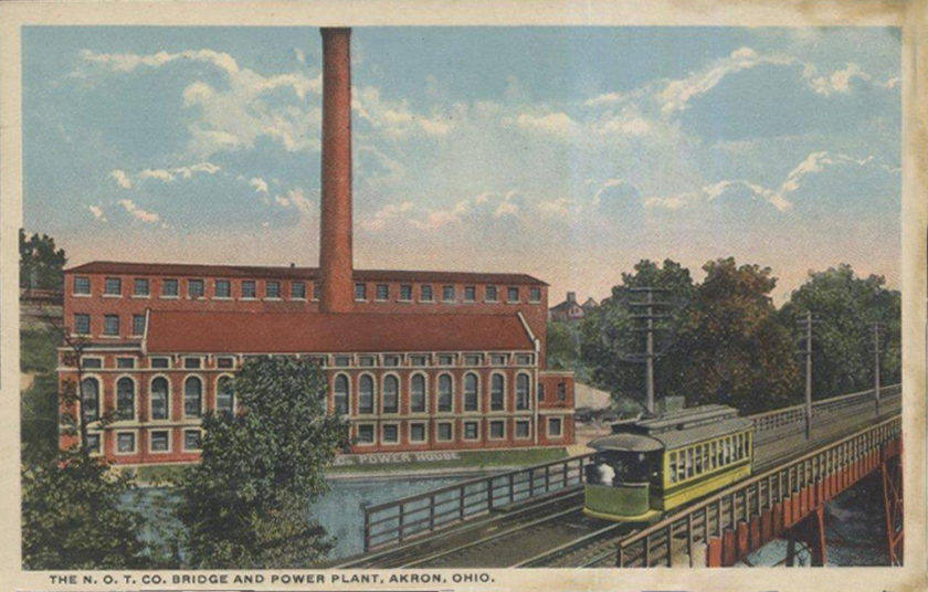 The N.O.T Co. Bridge and Power Plant, Akron, Ohio / Cuyahoga Falls
