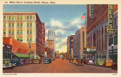 Main Street looking North, Akron, Ohio