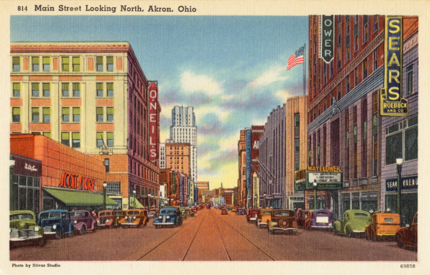 Main Street looking North, Akron, Ohio