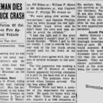 Man dies in truck crash, 1930 Akron, Ohio