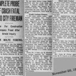 Akron Firefighter Eddie Wolfe dies 1930, akron, Ohio