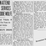 Akron Firefighter dead 1930, Akron, Ohio