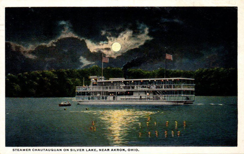 Steamer Chautauquan, on Silver Lake, near Akron, Ohio