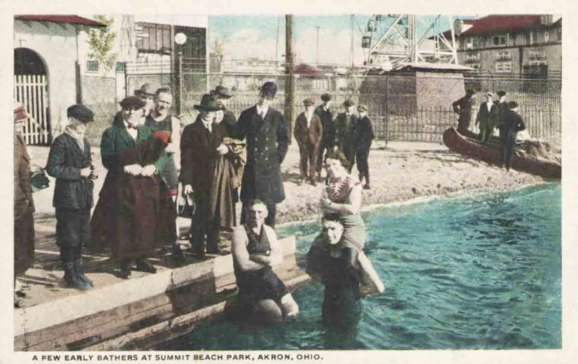 Swimmers at Summit Beach Park, Akron, Ohio