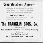 Franklin Brothers - Excavating and Grading - Union Depot Akron