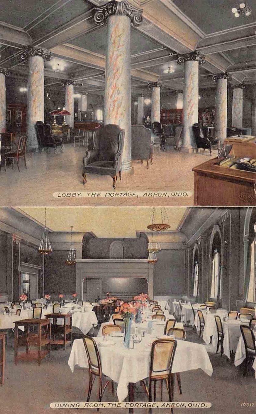 Portage Hotel Interior - Akron, Ohio