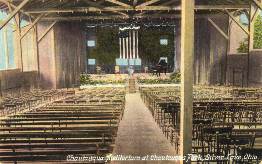 Chautauqua Auditorium, Silver Lake Park, near Akron, Ohio