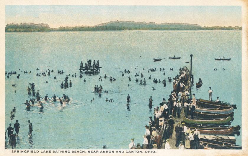 Springfield Lake bathing beach, Akron, Ohio