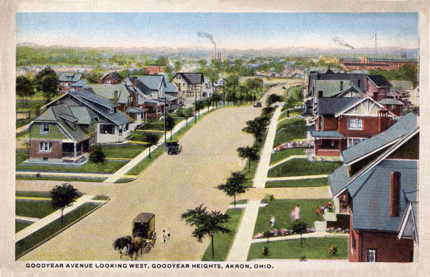 Goodyear Heights, Goodyear Boulevard, Para Avenue