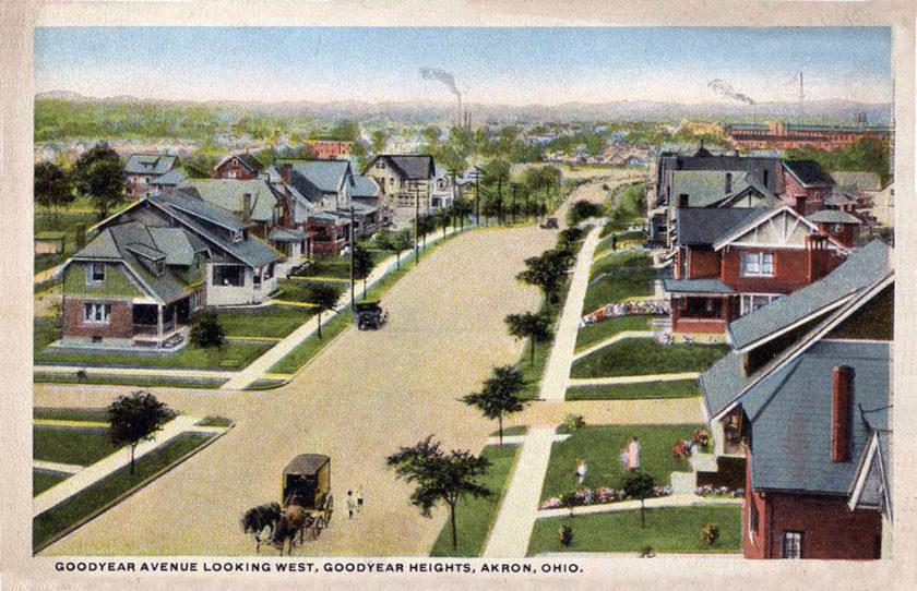 Goodyear Heights, Goodyear Boulevard, Para Avenue