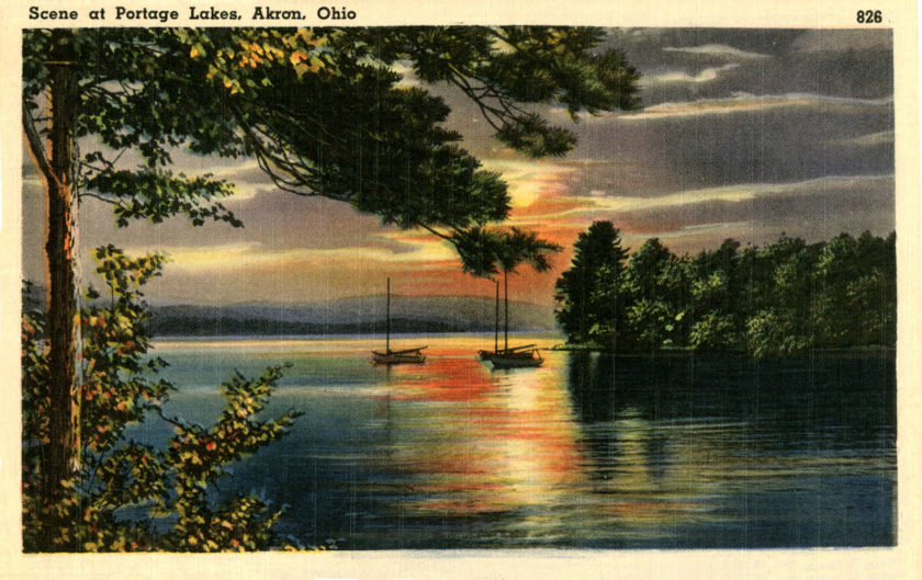 Sunset at Historic Portage Lakes, Akron, Ohio