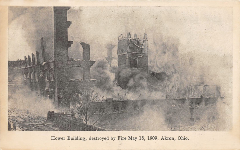 Hower Building Fire, Akron, Ohio