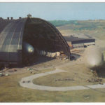 Goodyear Airdock with airships, Akron, Ohio